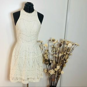 SALE! 2 for $25 White Lace Appliqué/Overlay Dress